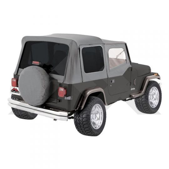 Jeep Yj Soft Top >> Complete Soft Top Grey Denim Tinted Windows